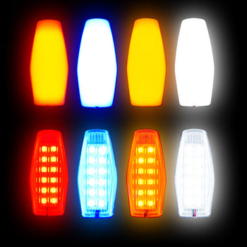 12V-24V Side Marker Light 5730 Colorful 12 SMD Clear Surface Source Brake Exterior - KoreaAutoAccessory