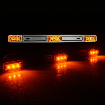 24V 3LED Straight Yellow Side Marker Light - KoreaAutoAccessory