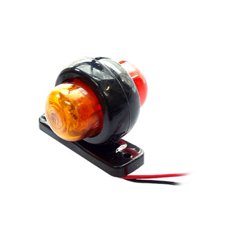 24V Mini Side Marker LED Light Red Yellow for Backup Brake Turn Signal Truck Trailer - KoreaAutoAccessory