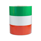 150MM * 25M Flag Fiber Vinyl Wrap Roll Three Colors Car Body Roof Hood Decal Colored Stripe Sticker - KoreaAutoAccessory