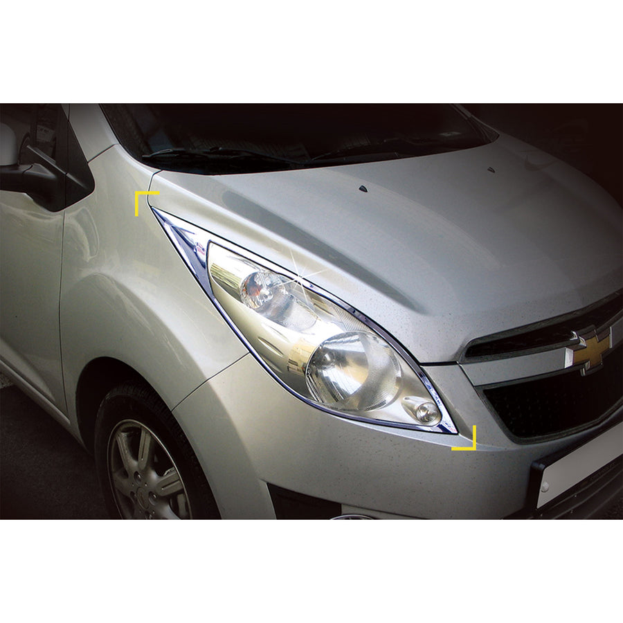 2pcs Chevrolet Fit Spark Head Lamp Cover Molding - KoreaAutoAccessory