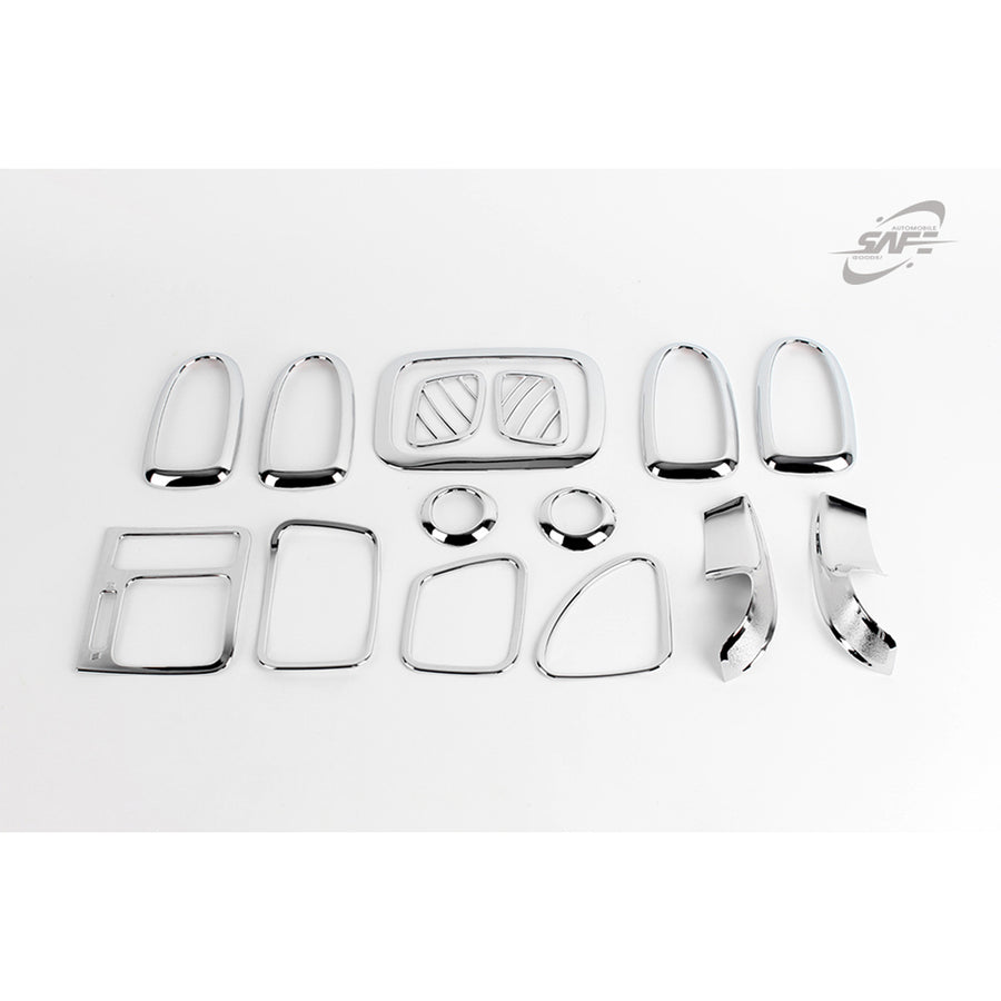 15pcs Hyundai Fit Elantra XD 4 Door Chrome Interior Molding - KoreaAutoAccessory