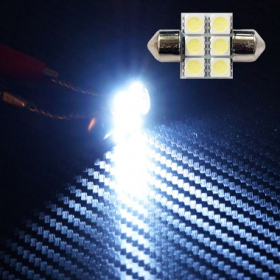 12V Car Light Bulbs Festoon Base 5050 LED 31mm 1.25in 2 SMD 4 SMD 6 SMD 9 SMD Interior Trunk Luggage - KoreaAutoAccessory