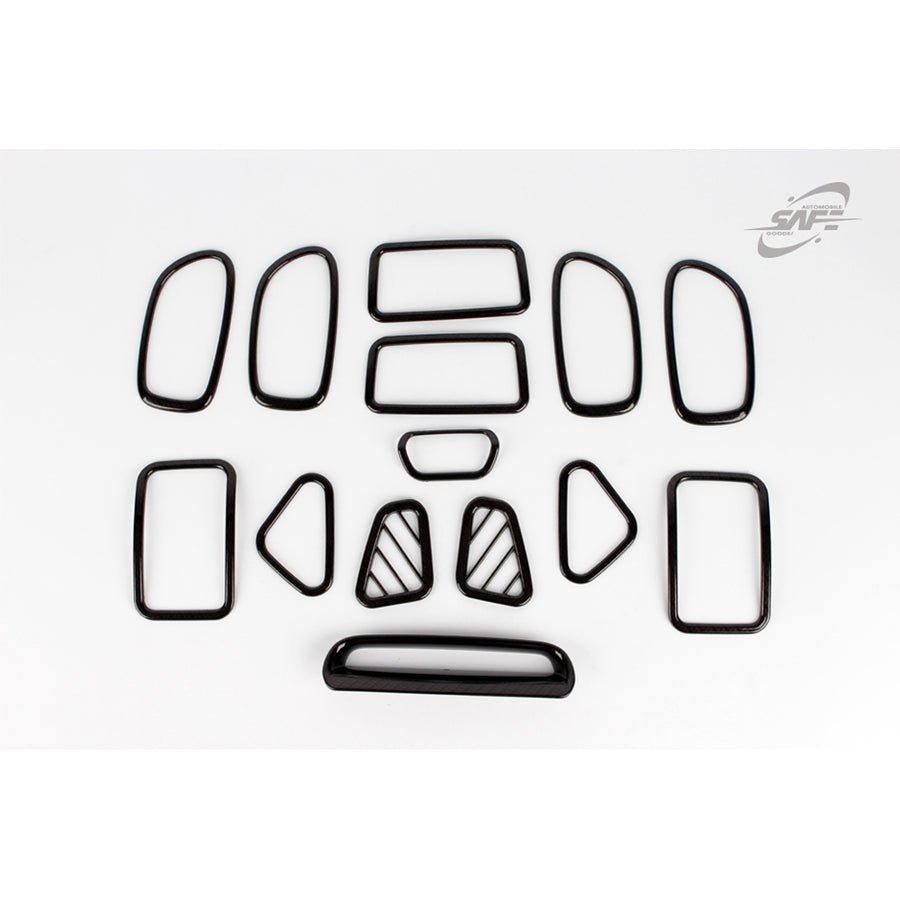 14pcs Hyundai Fit Elantra HD Carbon Interior Molding - KoreaAutoAccessory