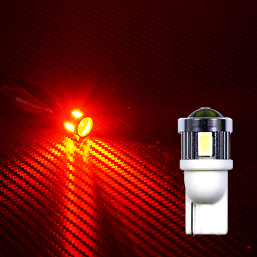 12V-24V Car Light Bulbs Miniature Bulb T10 Wedge 6 SMD 10 SMD LED Interior Reading Trunk Luggage - KoreaAutoAccessory