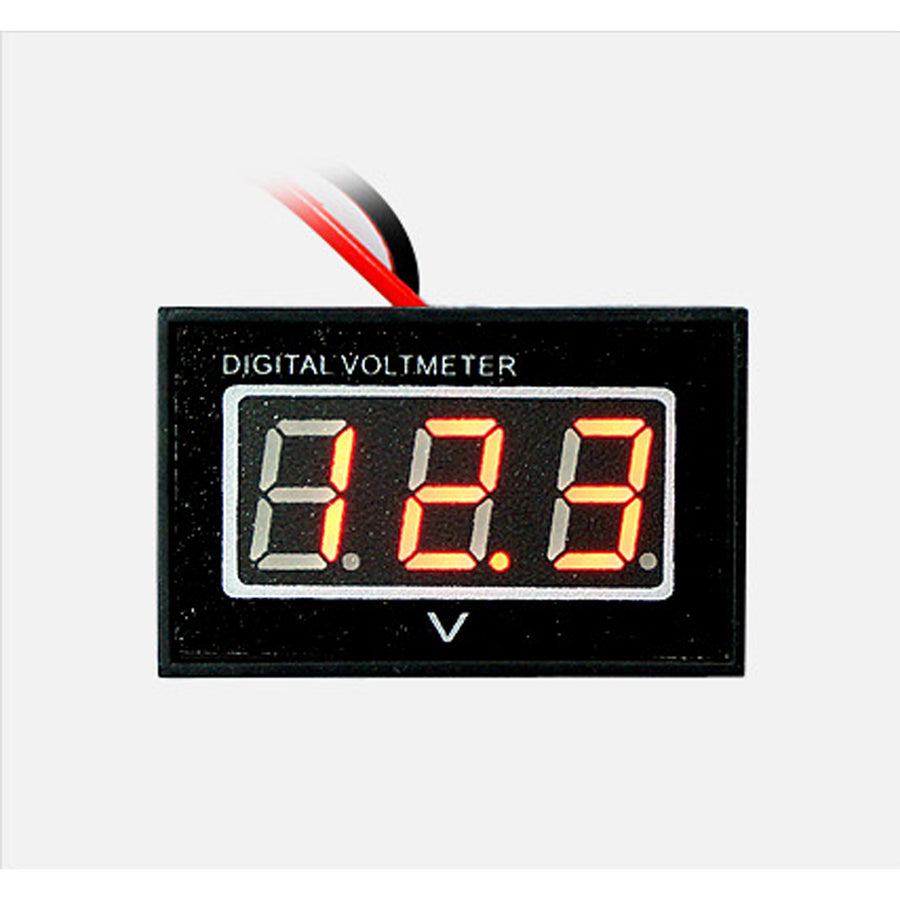 12V Digital Red/Blue LED Display Voltmeter Panel Voltage Meter For Car Motocycle - KoreaAutoAccessory