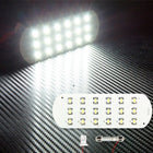12V/24V Car 5050 LED Panel Dome Light Trunk Reading License Plate with T10 Festoon Adapter - KoreaAutoAccessory