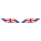 2 Pcs Epoxy Flag Emblem Badge Decal Sticker Decoration for Universal Car Auto Side Door Fender - KoreaAutoAccessory