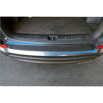 90cm 35.43in 104cm 4.09in Rear Trunk Door Sill Plate Protector Rubber Pad for Universal Car