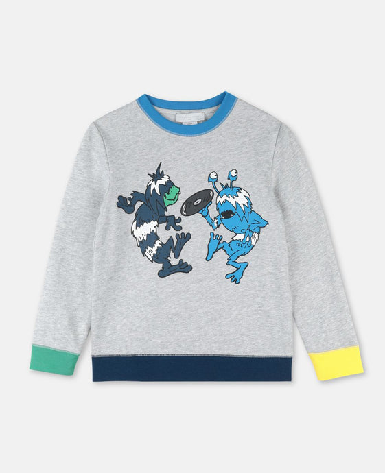Record Monster Print SMC Sweater