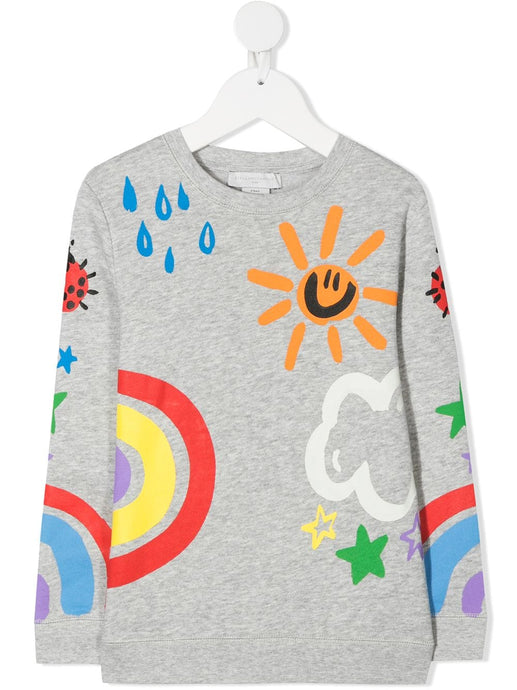Crayon Weather Print SMC Sweater