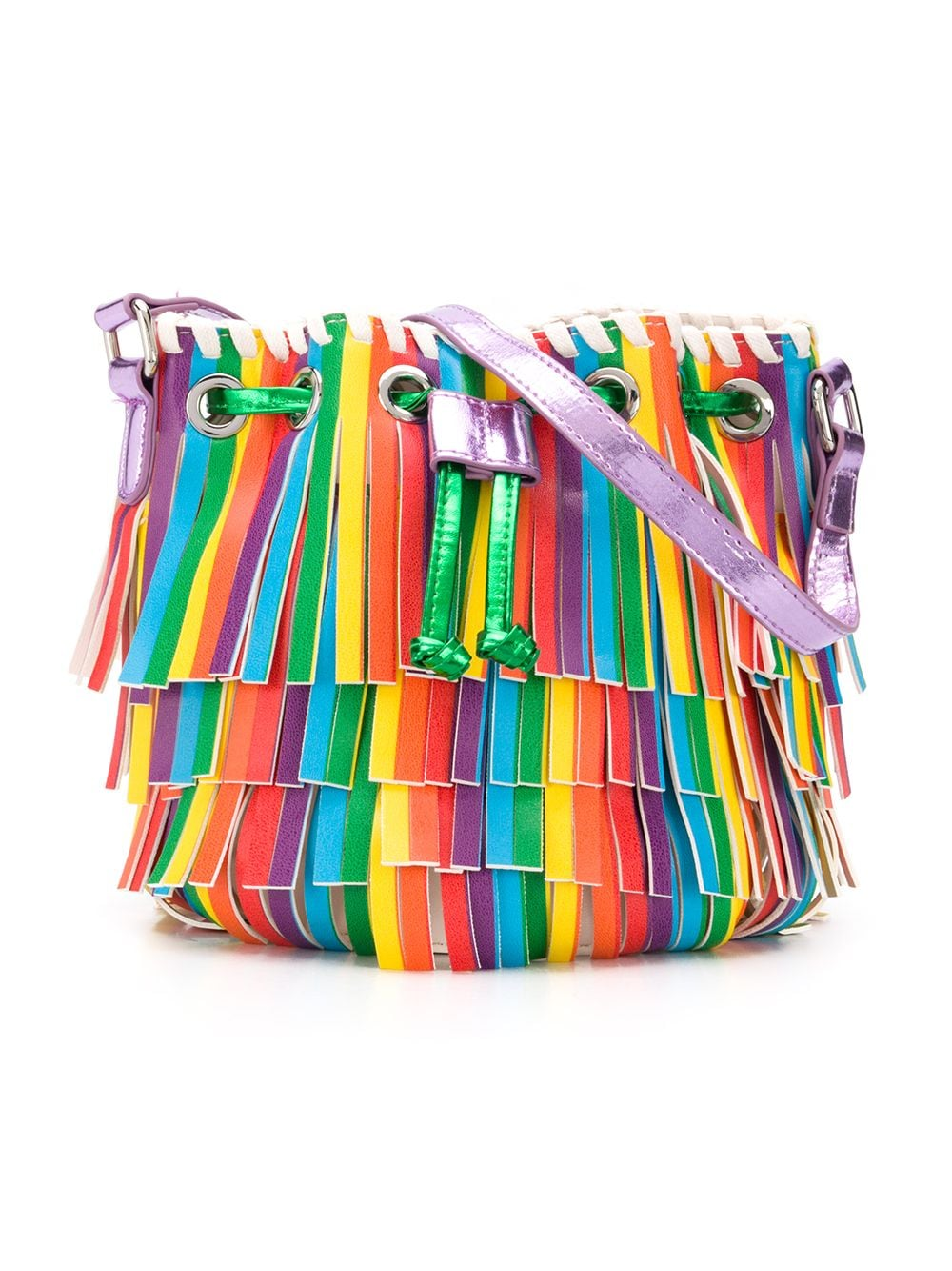 Multicolor Fringes SMC Bucket Bag