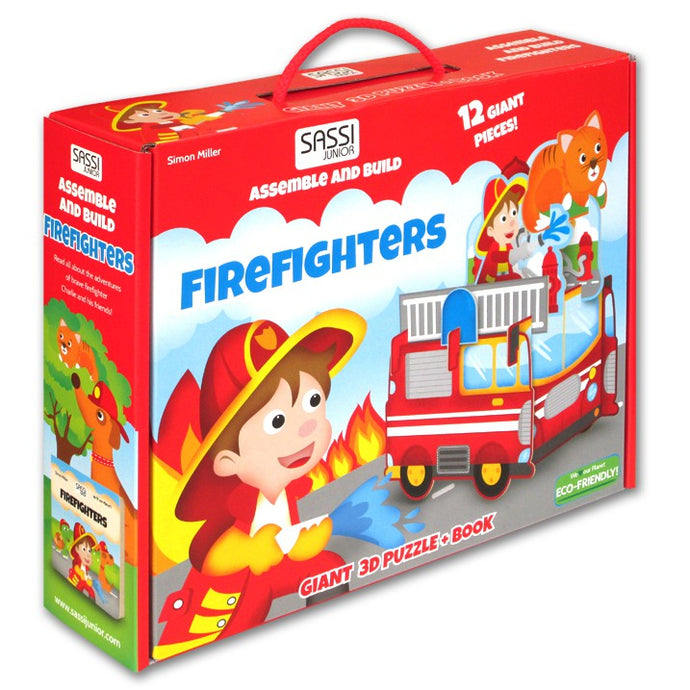 Sassi Giant 3D Puzzle And Book Firefighters