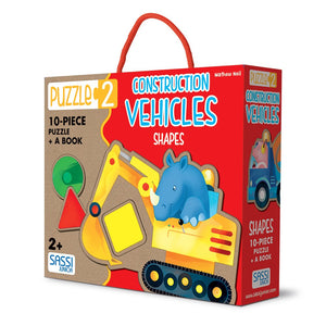 Sassi Puzzle 2 Construction Vehicles Shapes