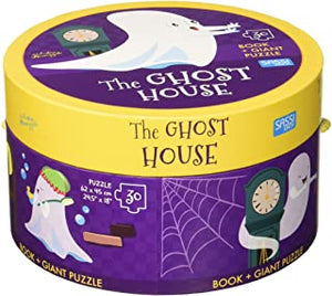 Sassi Book And Giant Puzzle Round Box Ghost House