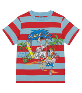 Striped Flamingo SMC Tee