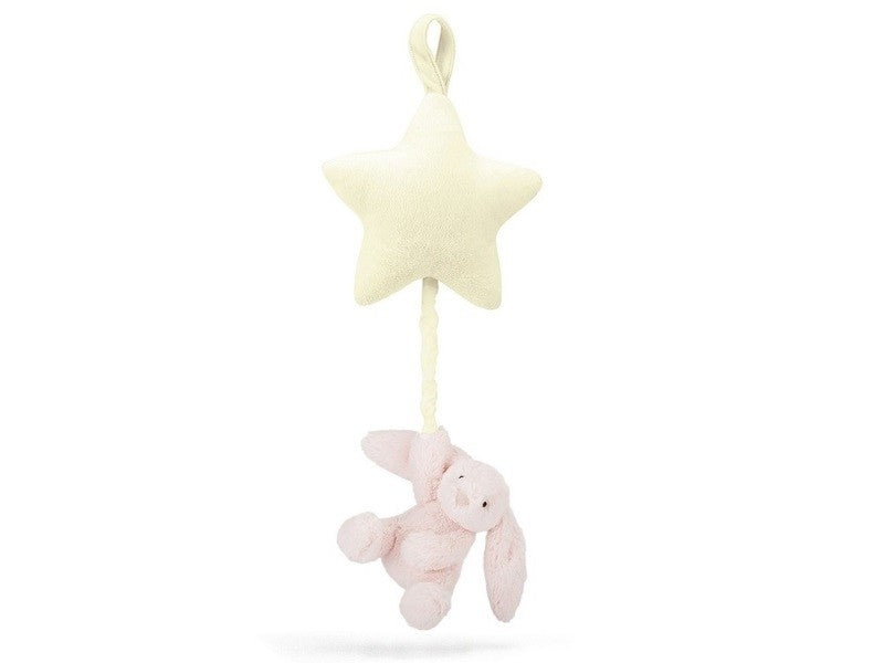 Bashful Pink Bunny Star Musical Pull