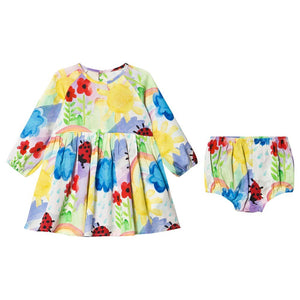 Weather Paint SMC Baby Twill Dress