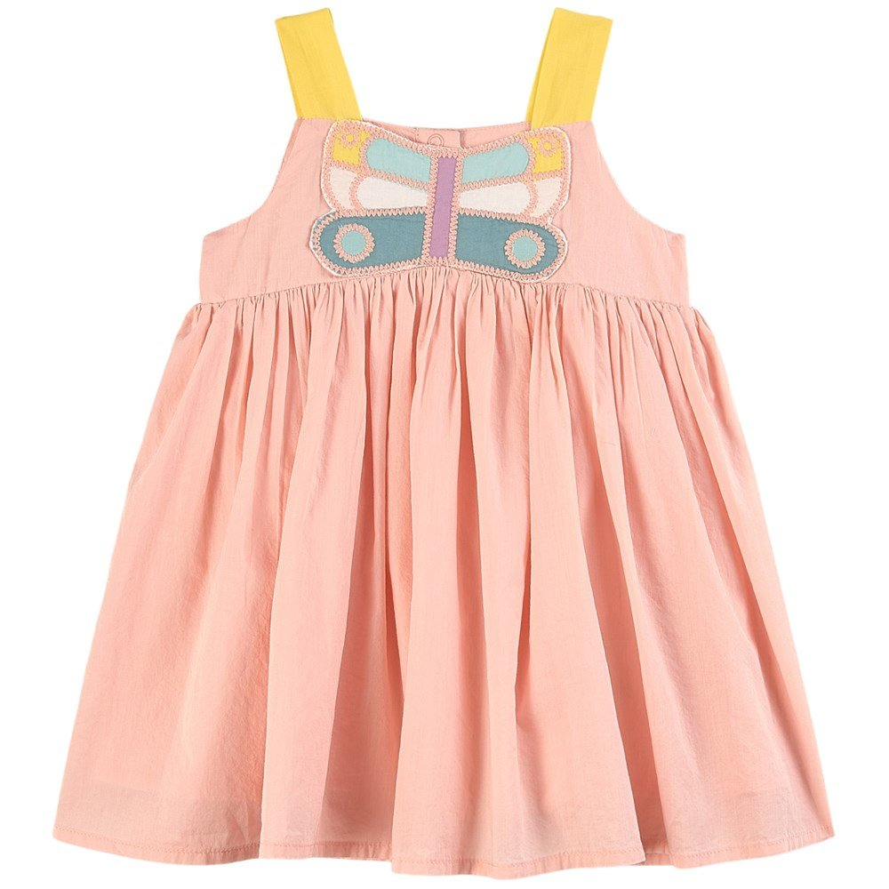 Multicolor Butterfly Patch SMC Baby Dress