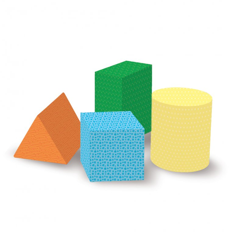 Sassi Eco-Blocks And Book Good Morning Shapes