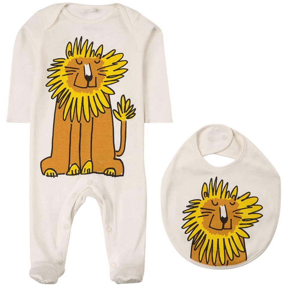 Lion Print SMC Baby Grow Set