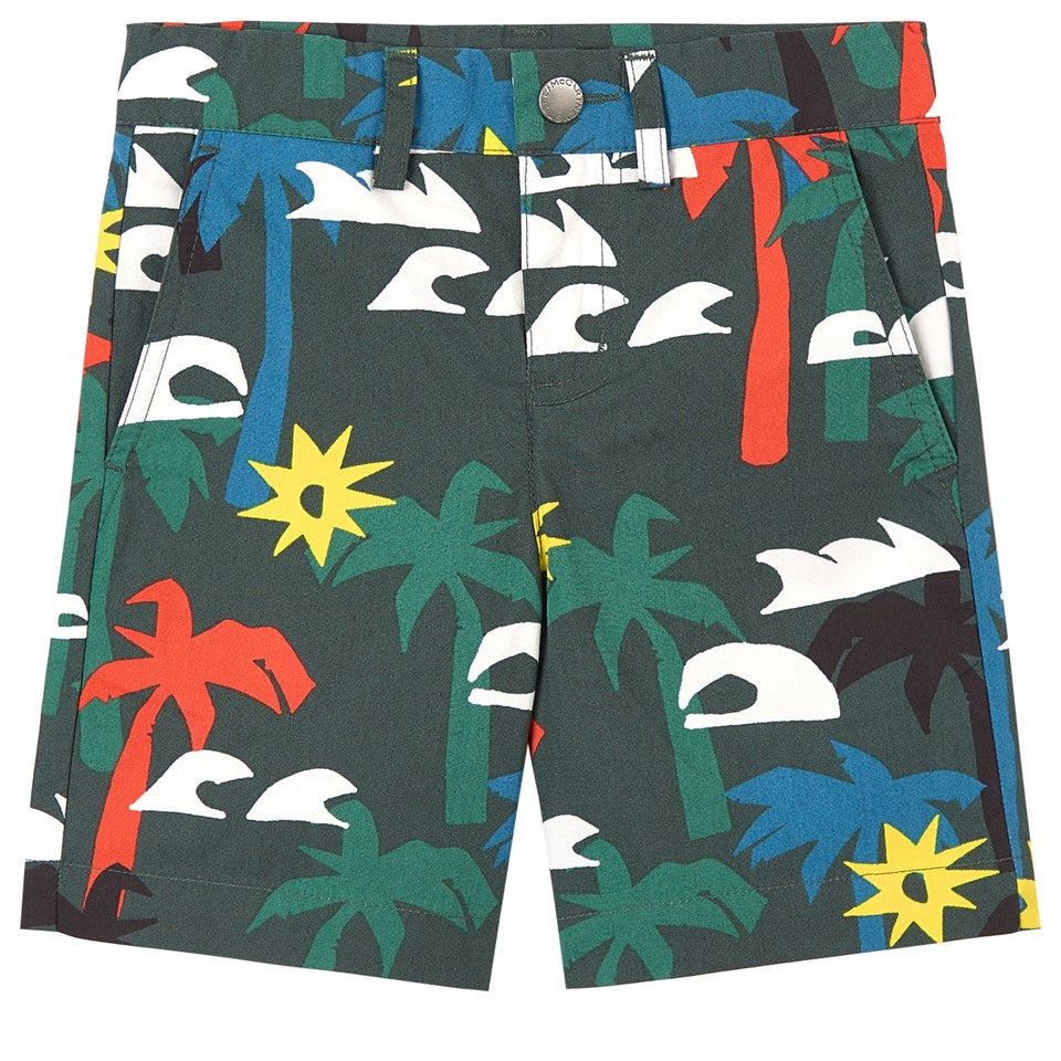 Multicolor Palm SMC Shorts