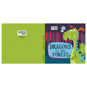 Sassi Book And Giant Puzzle Round Box Dragons In The Forest