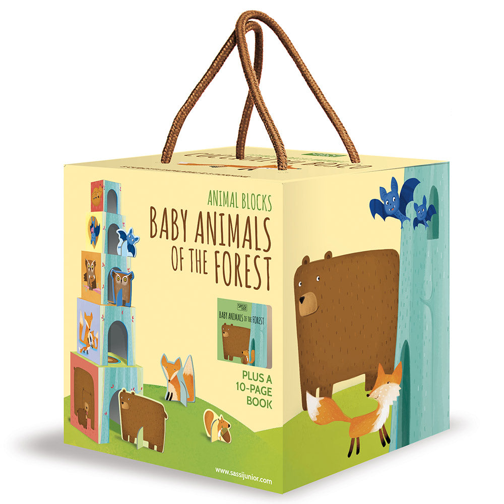 Sassi Animal Blocks And Book Baby Animals Of The Forest