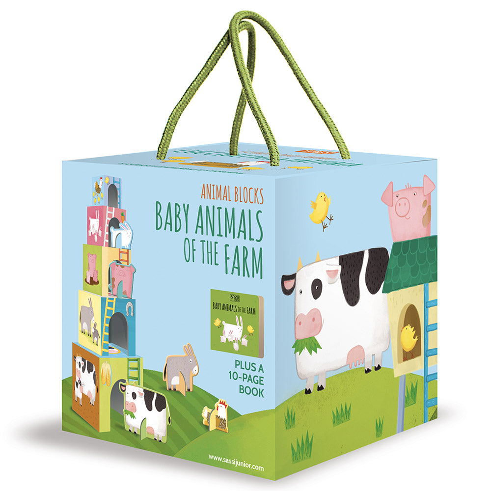 Sassi Animal Blocks And Book Baby Animals Of The Farm