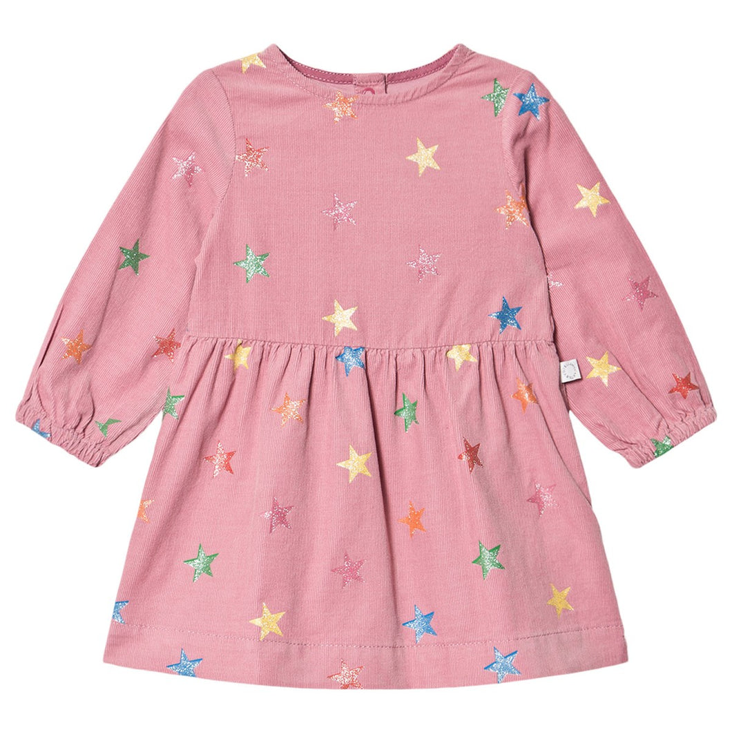 Glitter Stars SMC Baby Corduroy Dress