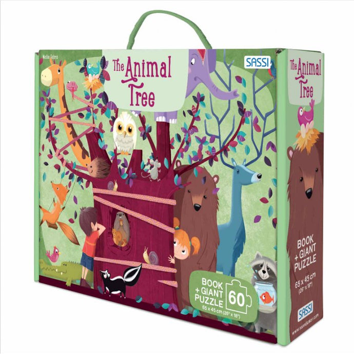 Sassi Giant Puzzle And Book The Animal Tree