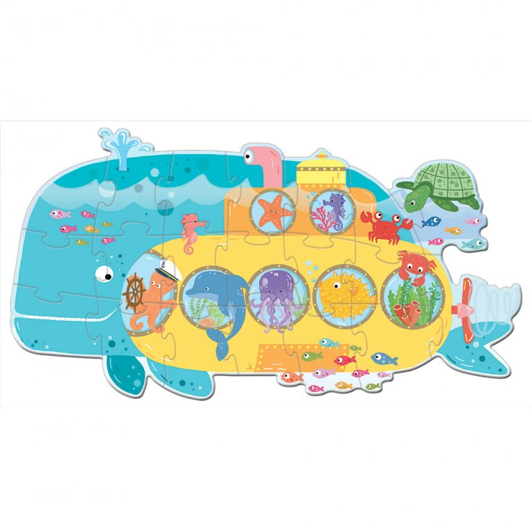 Sassi Travel Puzzle Animals On A Submarine