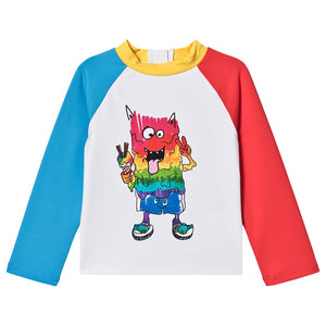 Rainbow Monster SMC Baby Swim Tee