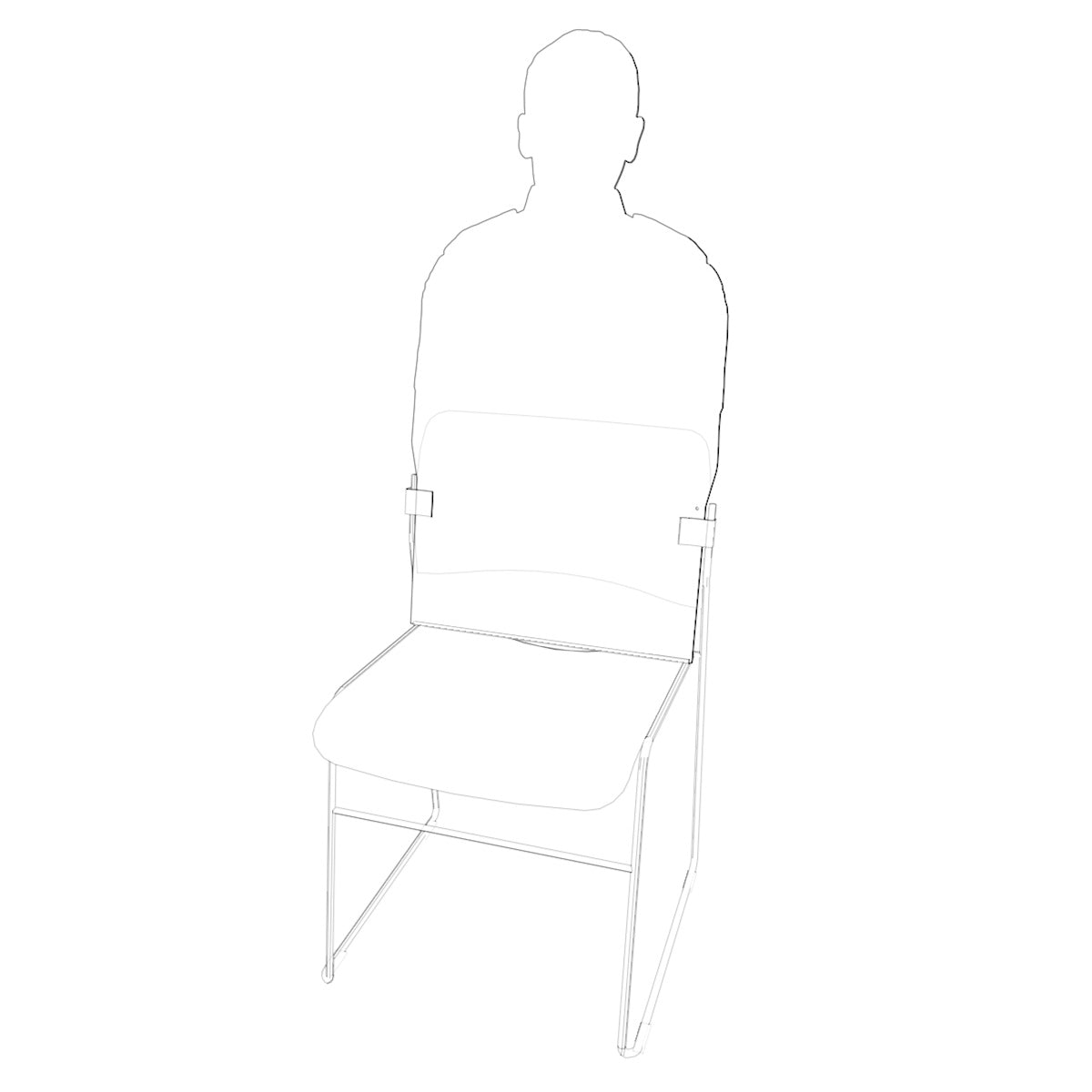 Silhouette on chair with fixings