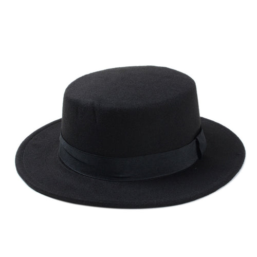 Wide Brim Fedora with Black Ribbon 10 Colors*