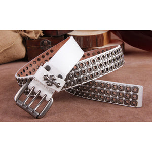 Genuine Cow Leather Rivet Punk Style Belt