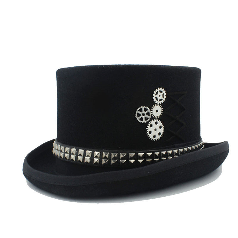 100% Wool Steampunk Top Hat*