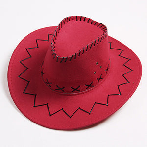 Unisex Cowboy Hat - Cowboy Hat Anti-UV Face -Protection Summer Sun Hat Belt Buckle