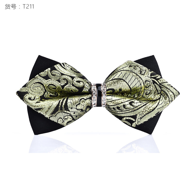 1 Piece Crystal Decorative Butterfly Bow Tie*