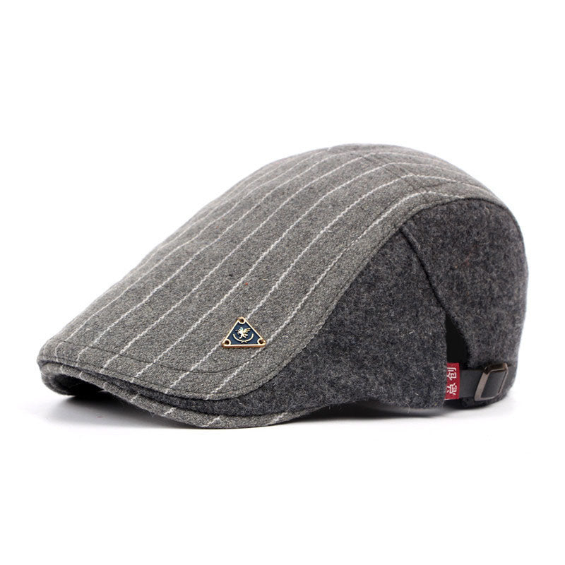 ef0fd843 ... Load image into Gallery viewer, IDOPY Vintage Striped Winter Newsboy Cap*  ...