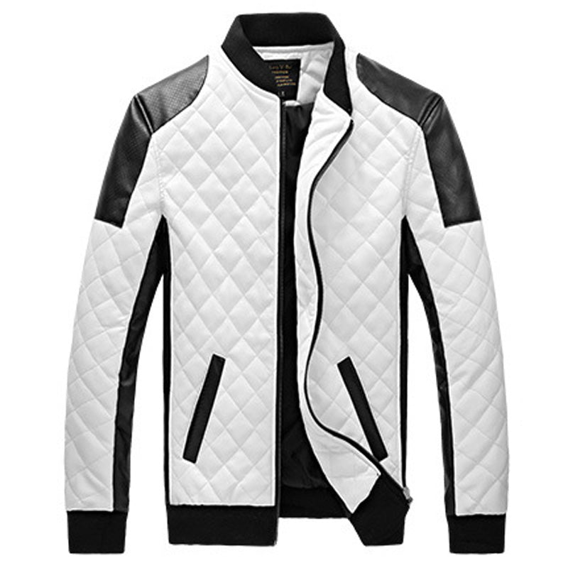 Men's Fashion Leather Jacket w/Casual Design-  Plus Sizes available