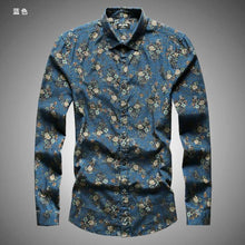 Load image into Gallery viewer, Mens Vintage  Flower Print Long Sleeve Shirt* (S-3XL)
