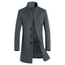 Load image into Gallery viewer, Thick Single-Breasted Canvas Trench Coat