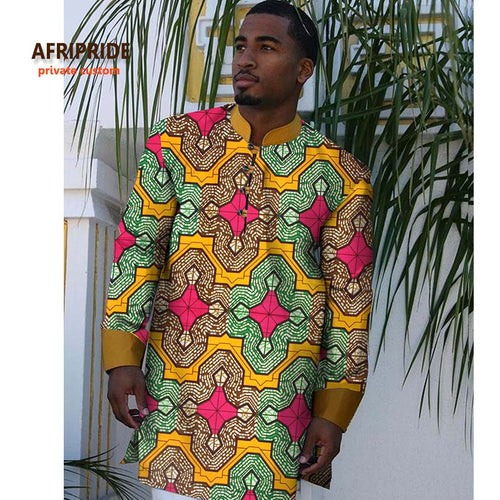 AFRIPRIDE Private Custom Long Sleeve Dashiki Shirt