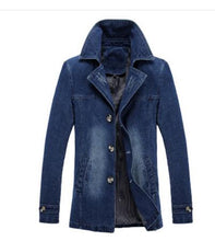 Load image into Gallery viewer, Long Overcoat Style Denim Coat