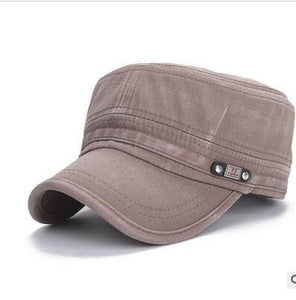 All Season Solid Color Flat Military Hat