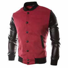 Load image into Gallery viewer, Men's Leather Patchwork Bomber Jacket*