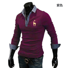 Load image into Gallery viewer, Men's Casual Long Sleeve Turn Down Collar Polo Shirt
