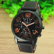 Load image into Gallery viewer, Waterproof Men's Casual Sport Stainless Steel w/Silicone Band Quartz Analog Wrist Watch