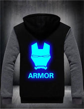 Load image into Gallery viewer, Mens Thick Fleece Hooded Iron Man Winter Coat